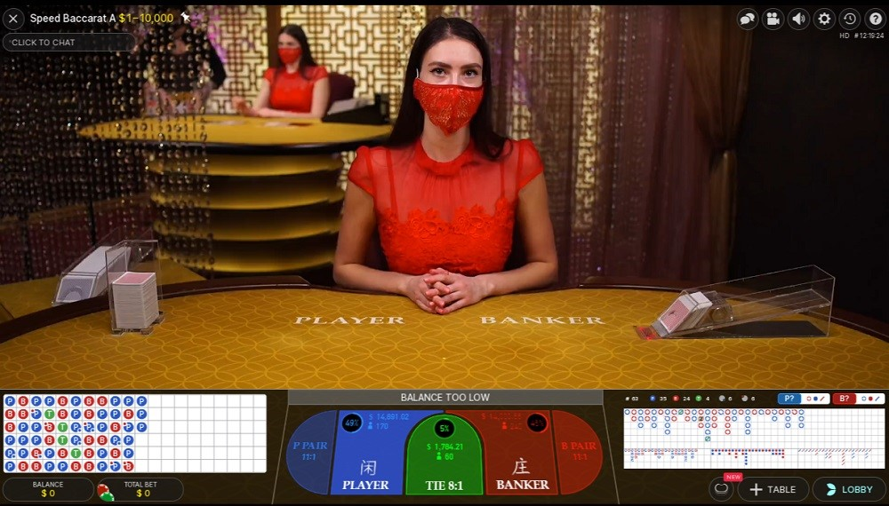 Foxy Casino Live Baccarat