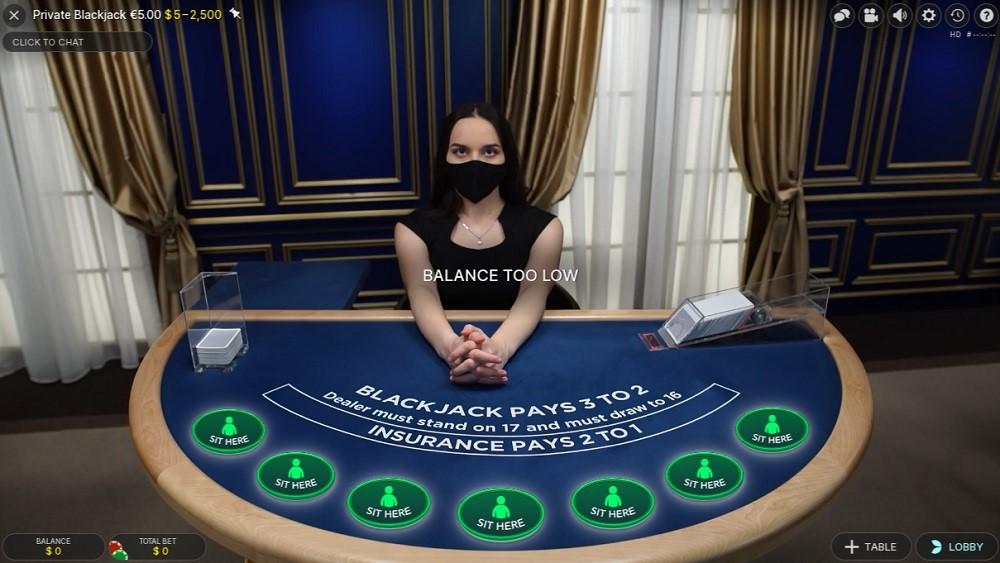 Foxy Casino Live Blackjack