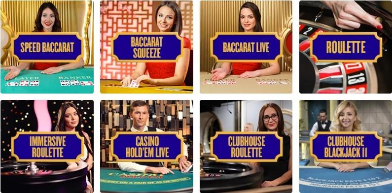 Foxy Casino Live Casino Games