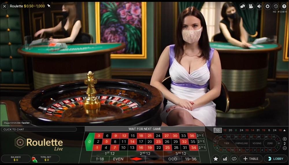 Foxy Casino Live Roulette