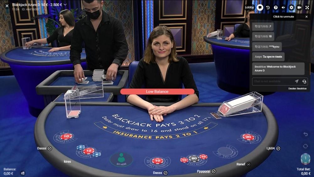 Frank Casino Live Blackjack