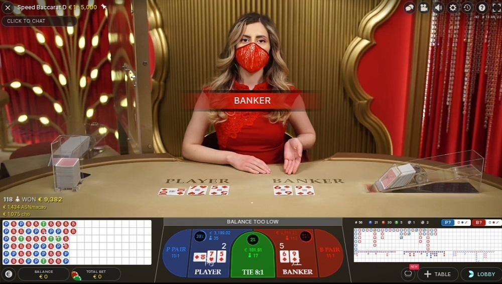 Karamba Casino Live Baccarat
