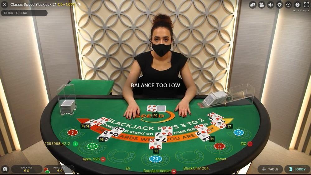 Karamba Casino Live Blackjack