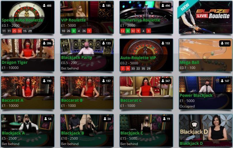 Karamba Casino Live Casino Games