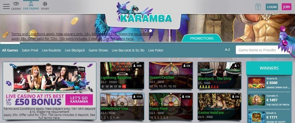 Karamba Casino Members Area