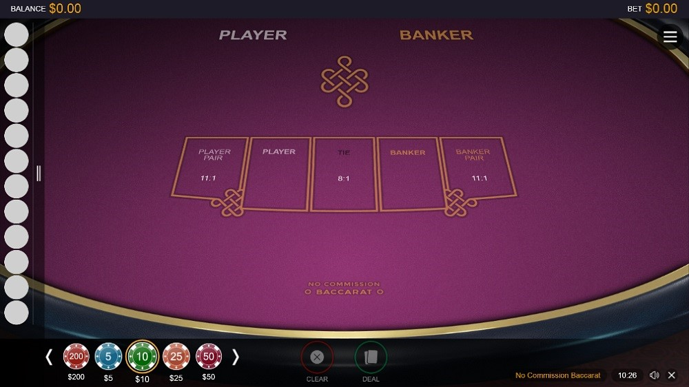 Lucky Days Casino Automated Baccarat