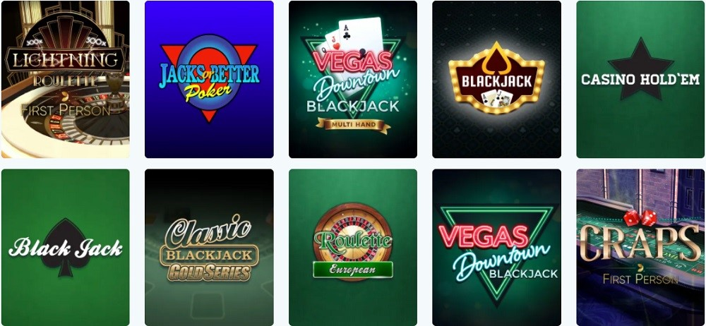 Lucky Days Casino Automated Casino Table Games