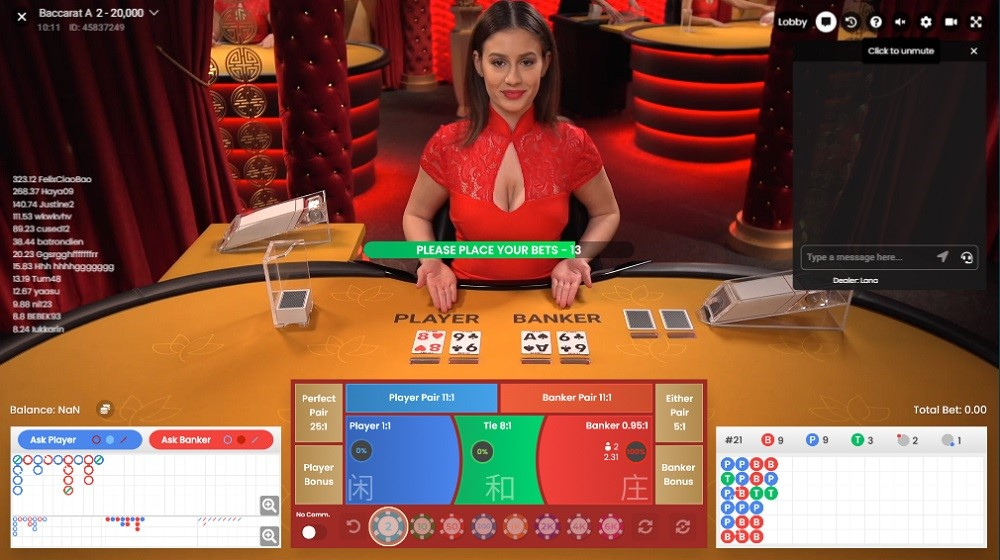Lucky Days Casino Live Baccarat
