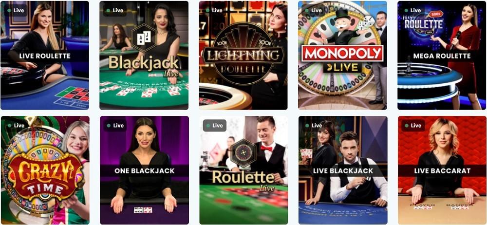 Lucky Days Casino Live Casino Games