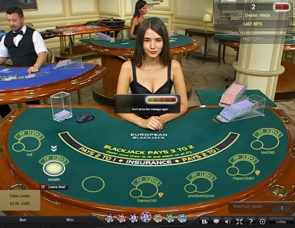 Mansion Casino Live Blackjack