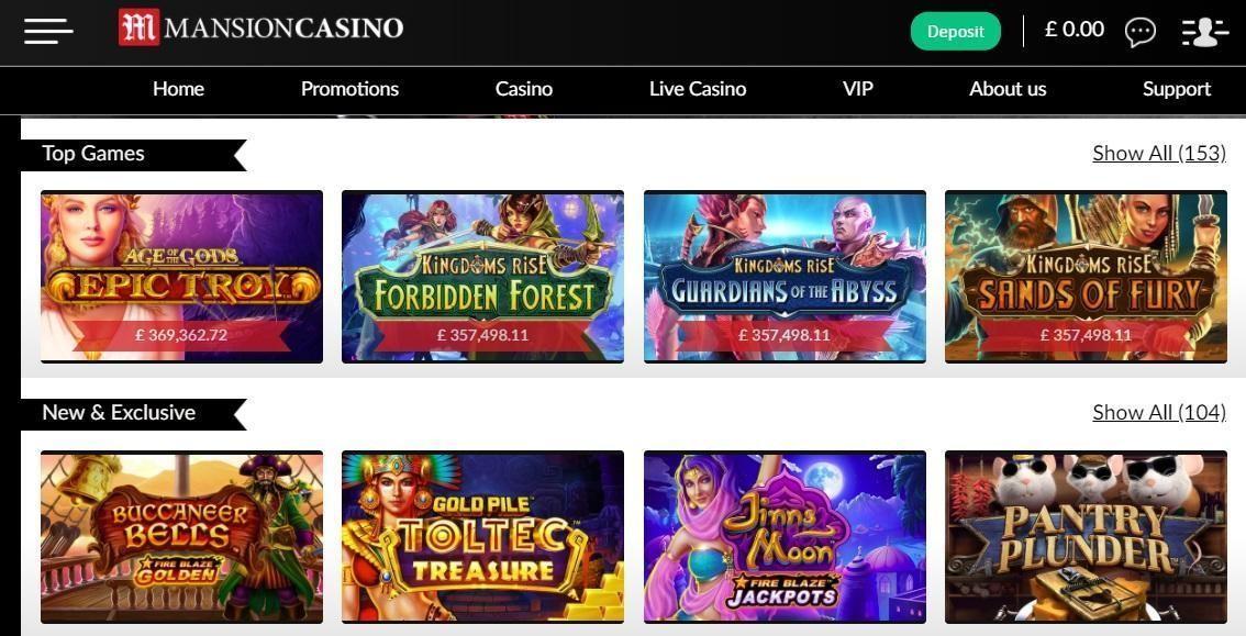 Mansion Casino Members Area