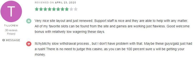Mansion Casino Player Review 5