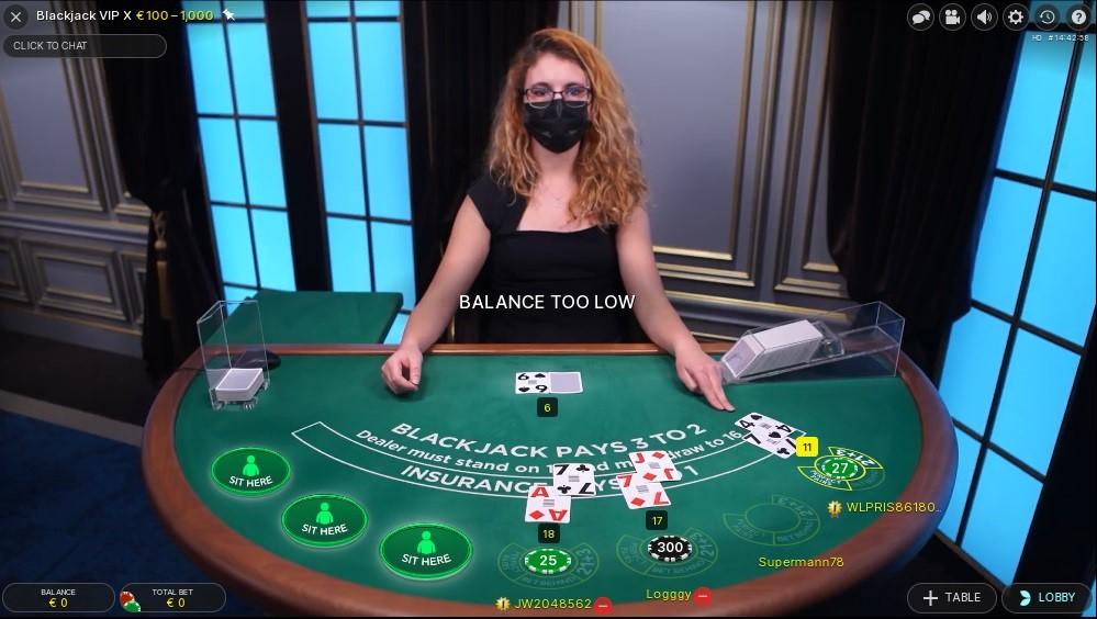 Mega Casino Live Blackjack