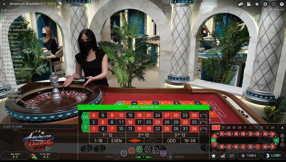 Mega Casino Live Roulette