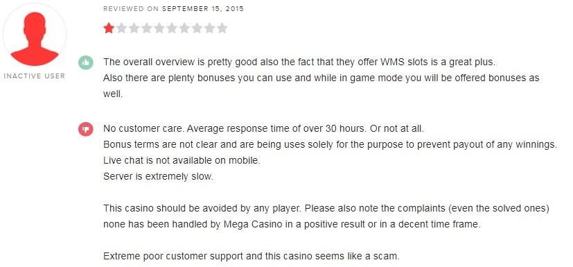 Mega Casino Player Review 2