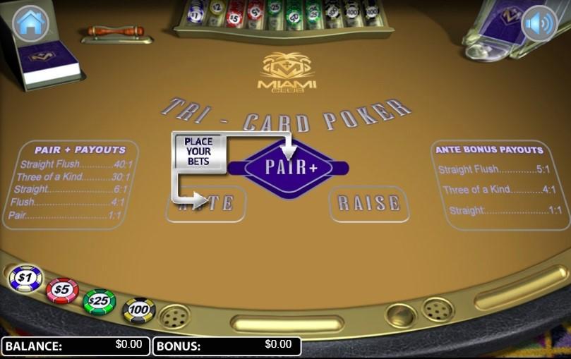 Miami Club Casino Automated Poker