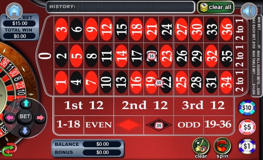 Miami Club Casino Automated Roulette
