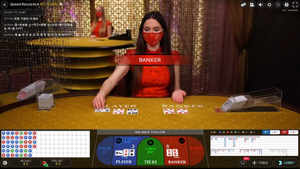 Pronto Casino Live Baccarat