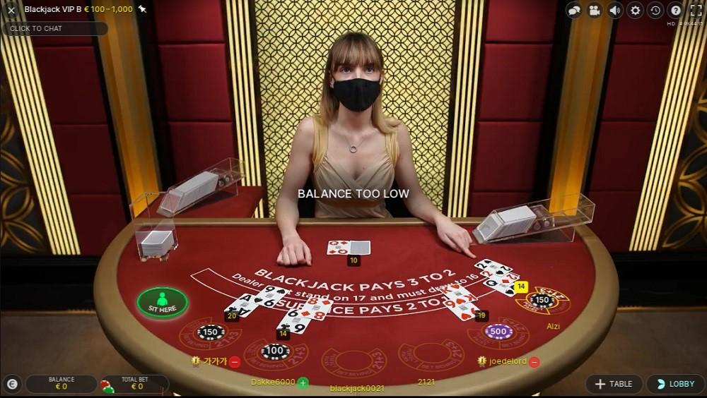 Pronto Casino Live Blackjack