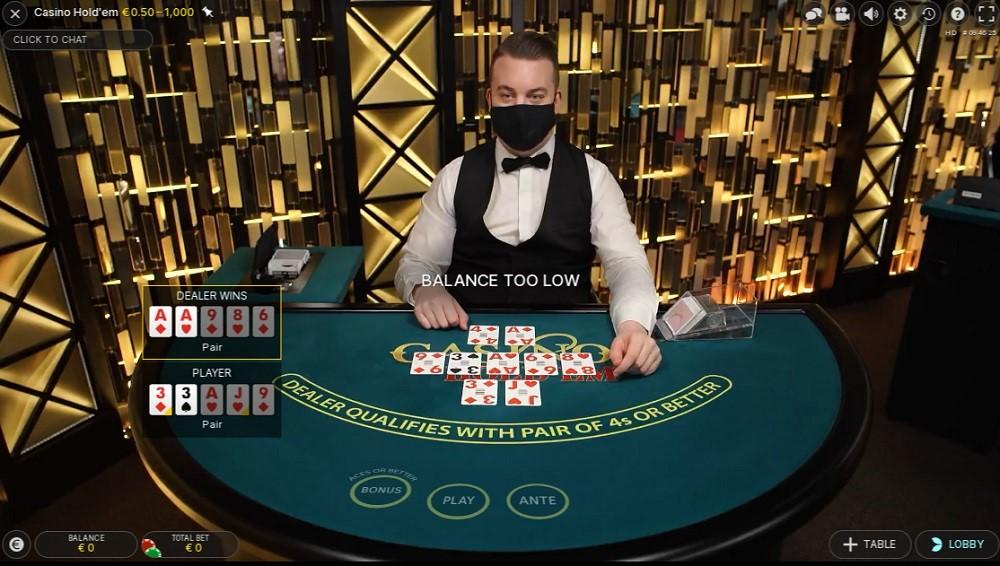 Pronto Casino Live Poker