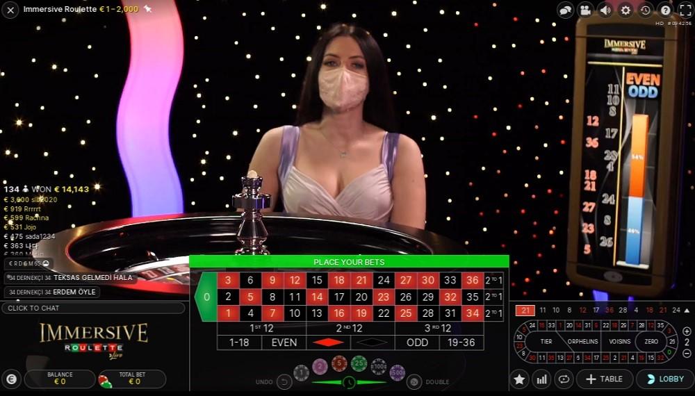 Pronto Casino Live Roulette