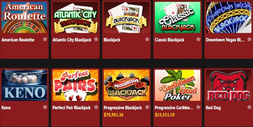 Red Stag Casino Automated Casino Table Games