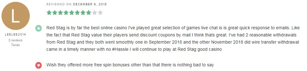 Red Stag Casino Player Review 4