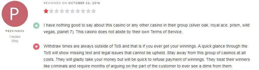 Silver Oak Casino Player Review 4