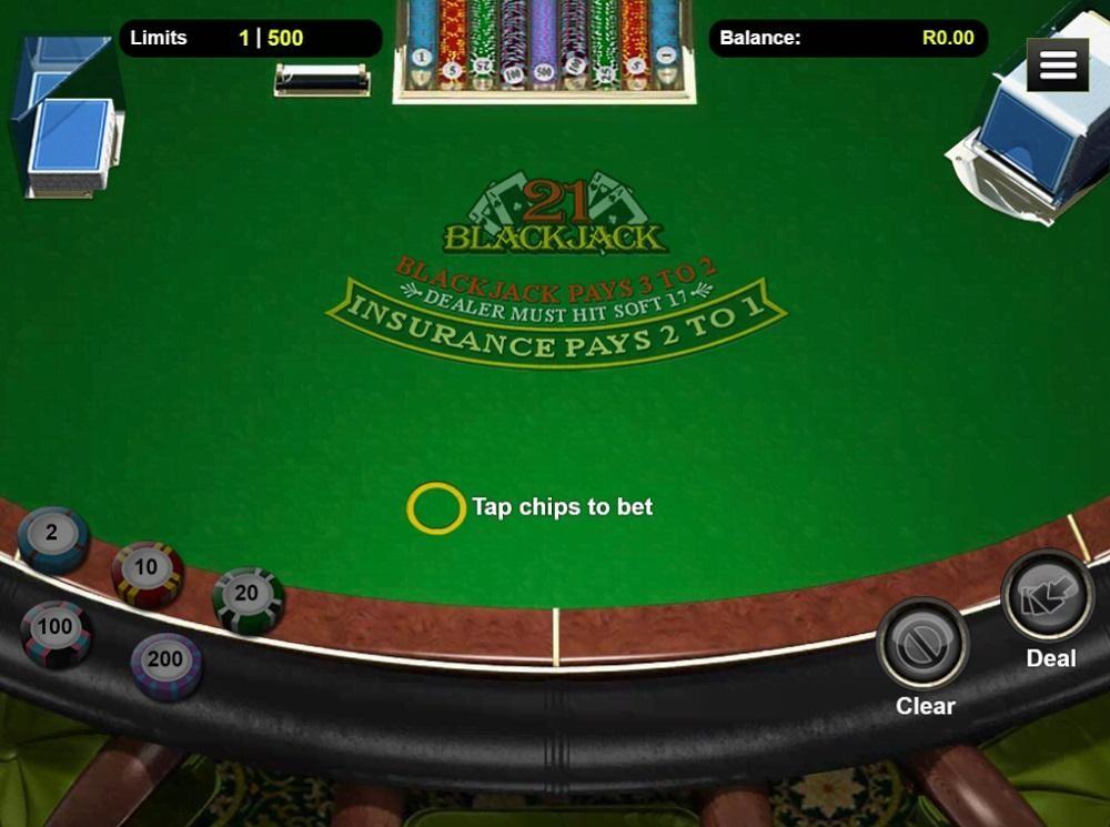 Thunderbolt Casino Automated Blackjack