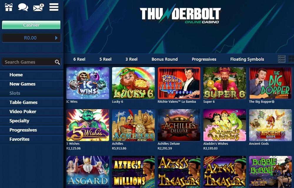 Thunderbolt Casino Members Area