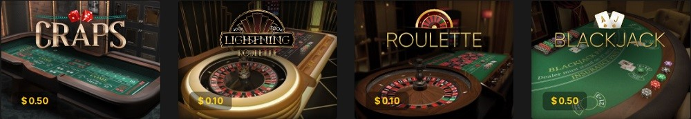 Woo Casino Automated Casino Table Games