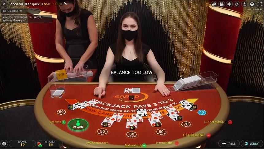Woo Casino Live Blackjack