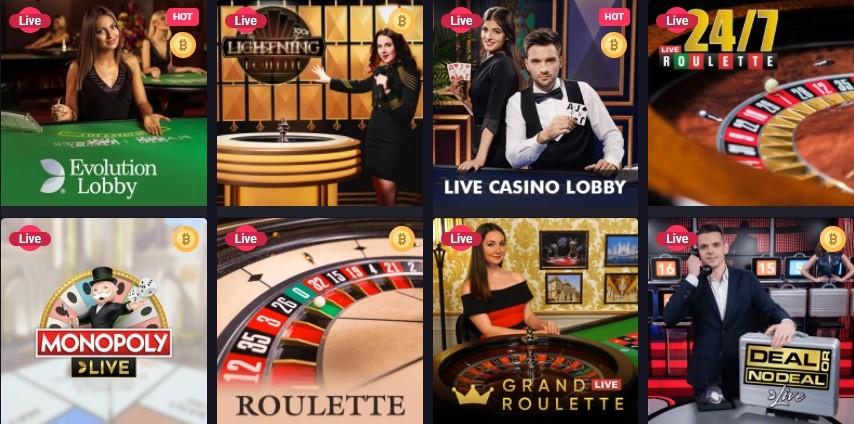 Woo Casino Live Casino Games