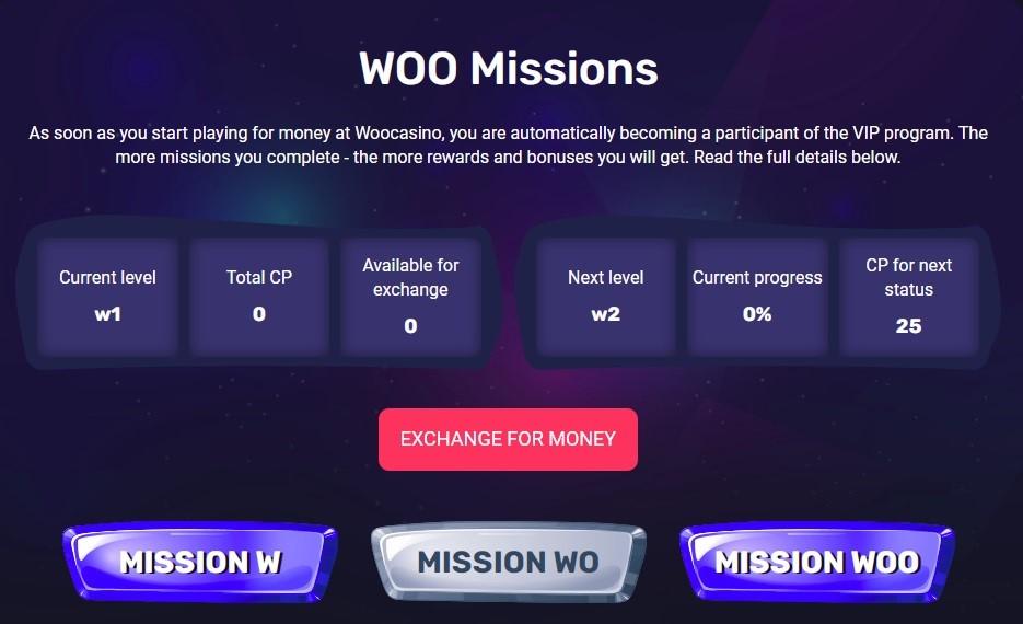 Woo Casino Rewards Program