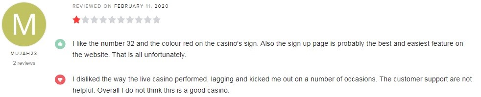 32Red Casino Player Review