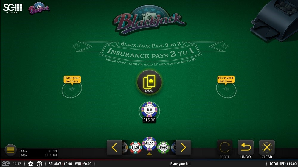 All British Casino Automated Blackjack