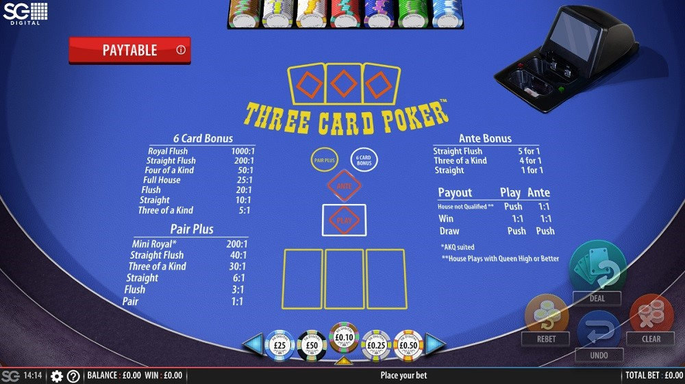 All British Casino Automated Poker