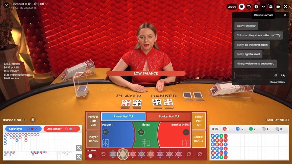 All British Casino Live Baccarat