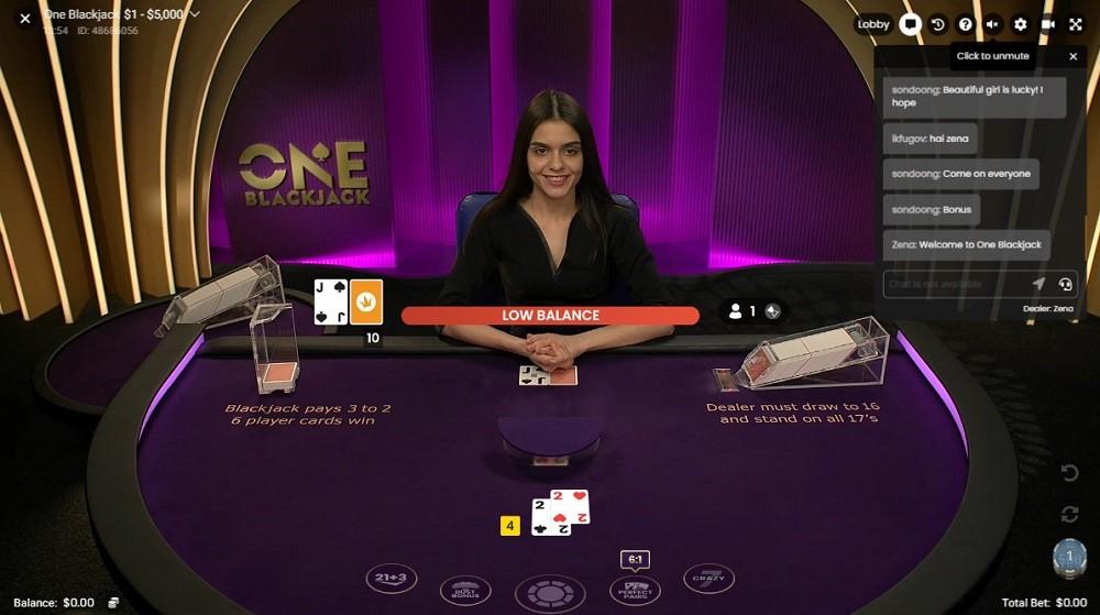 All British Casino Live Blackjack