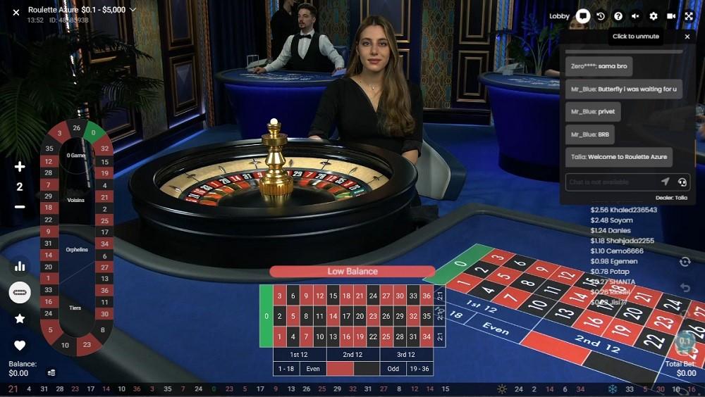 All British Casino Live Roulette
