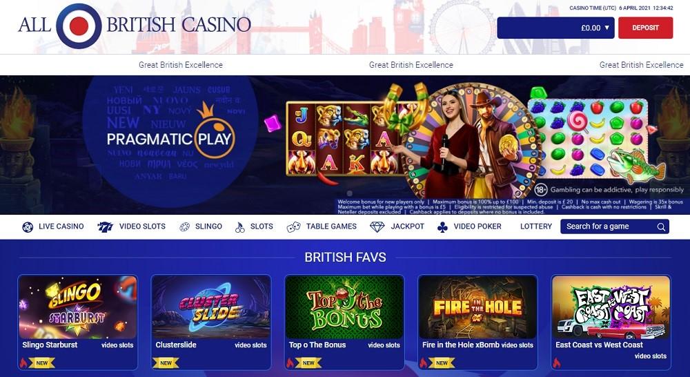 All British Casino Members Area