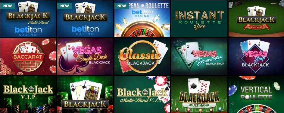 Betiton Casino Automated Casino Table Games