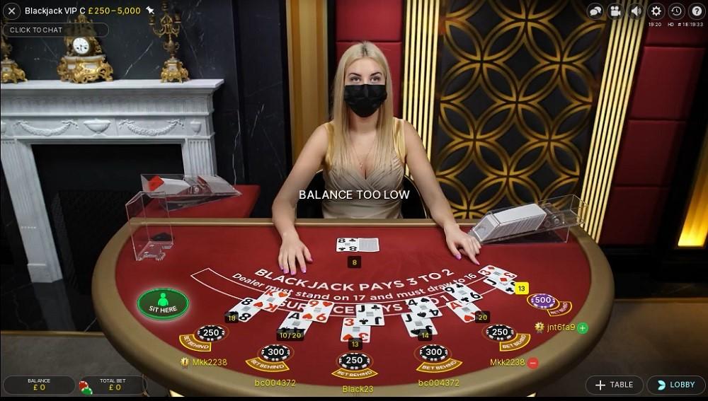 Betiton Casino Live Blackjack