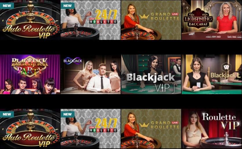 Betiton Casino Live Casino Games