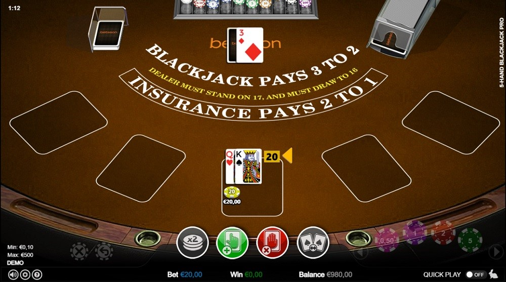 Betsson Casino Automated Blackjack