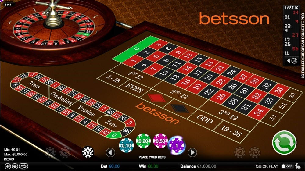 Betsson Casino Automated Roulette