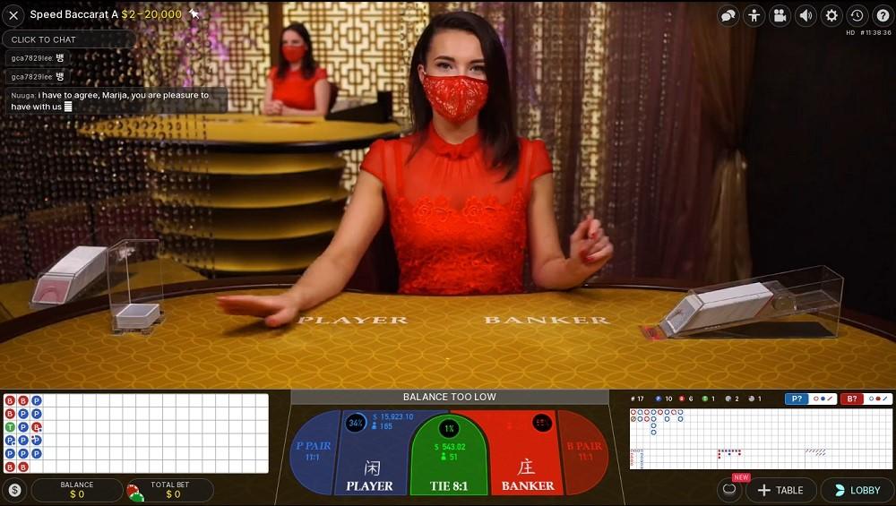 Betsson Casino Live Baccarat