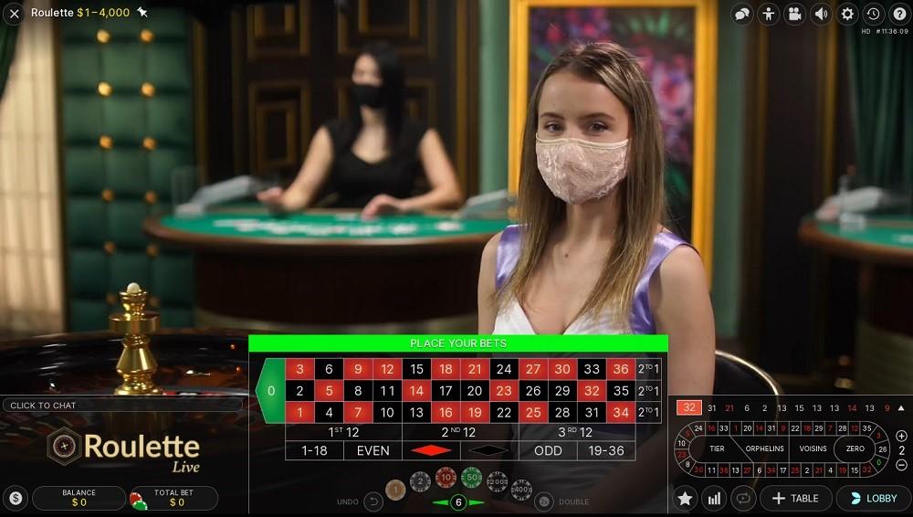 Betsson Casino Live Roulette