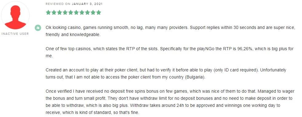 Betsson Casino Player Review
