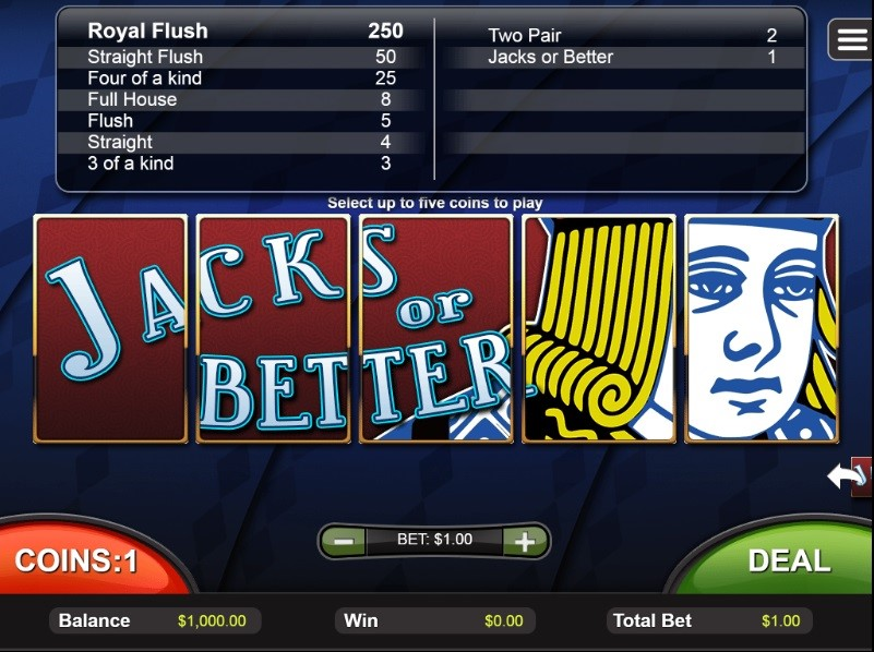 Captain Jack Casino Automated Poker